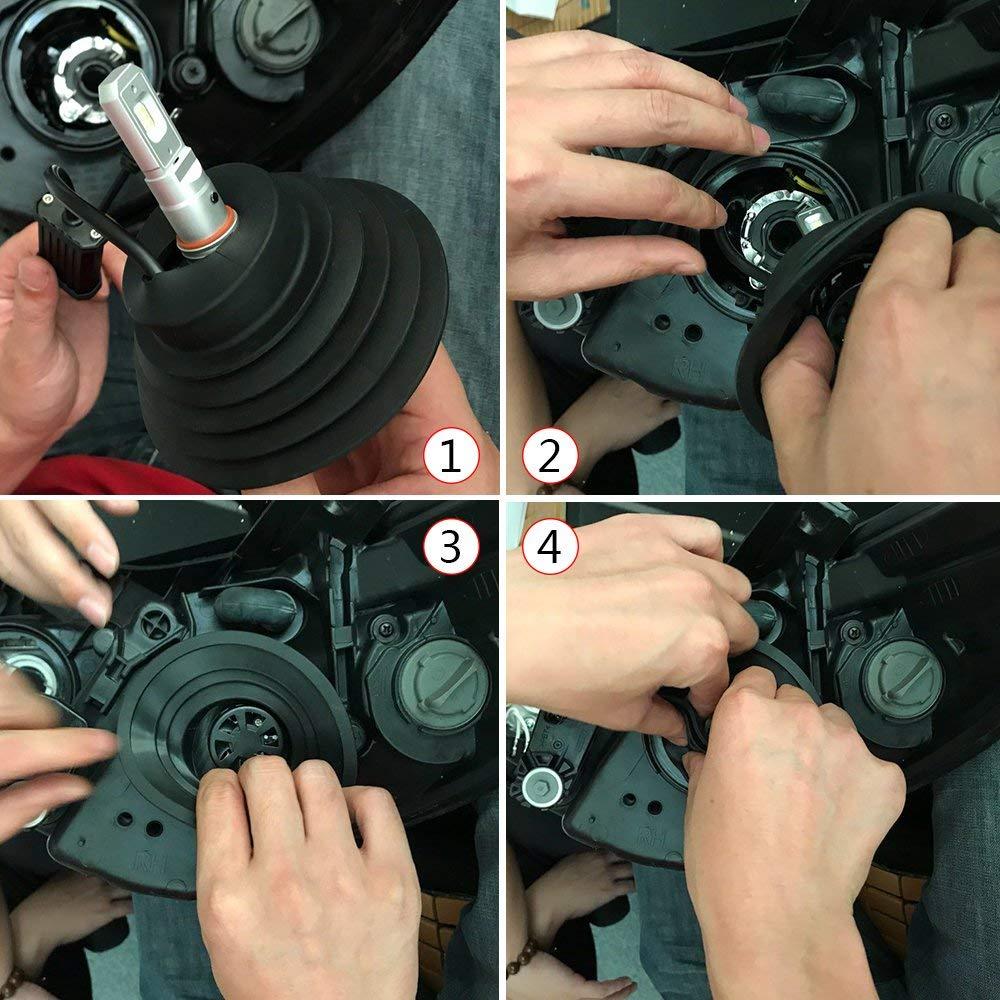 Copertura Antipolvere Fari Auto Koyoso Tappo Polvere di Gomma Universale per Lampadine di Faro dellautomobile a LED Kit H7 H4 H1 H11