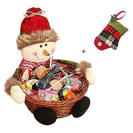 Cesta de almacenaje para Navidad de Keepwin, para caramelos o decoración, diseñ