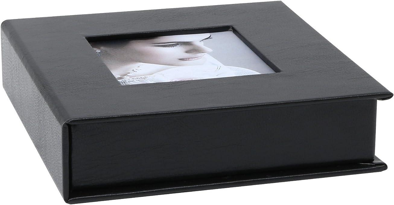 Deknudt s66dj3 álbum de – Caja Fotos Piel o sintética Negro 13 x 13 x 3,3 cm: Amazon.es: Hogar