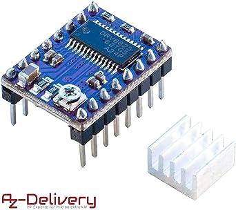 AZDelivery DRV8825 modulo Controlador de Motor Paso a Paso con ...