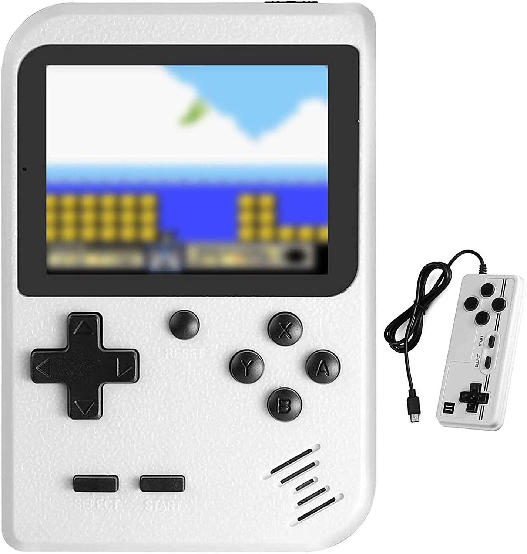 Molyhood Consola de Juegos Portátil, Juegos Electrónicos Portátiles Reproductor de Juegos Retro portátil Pantalla de 2.8 Pulgadas Construido en 400 Juegos clásicos