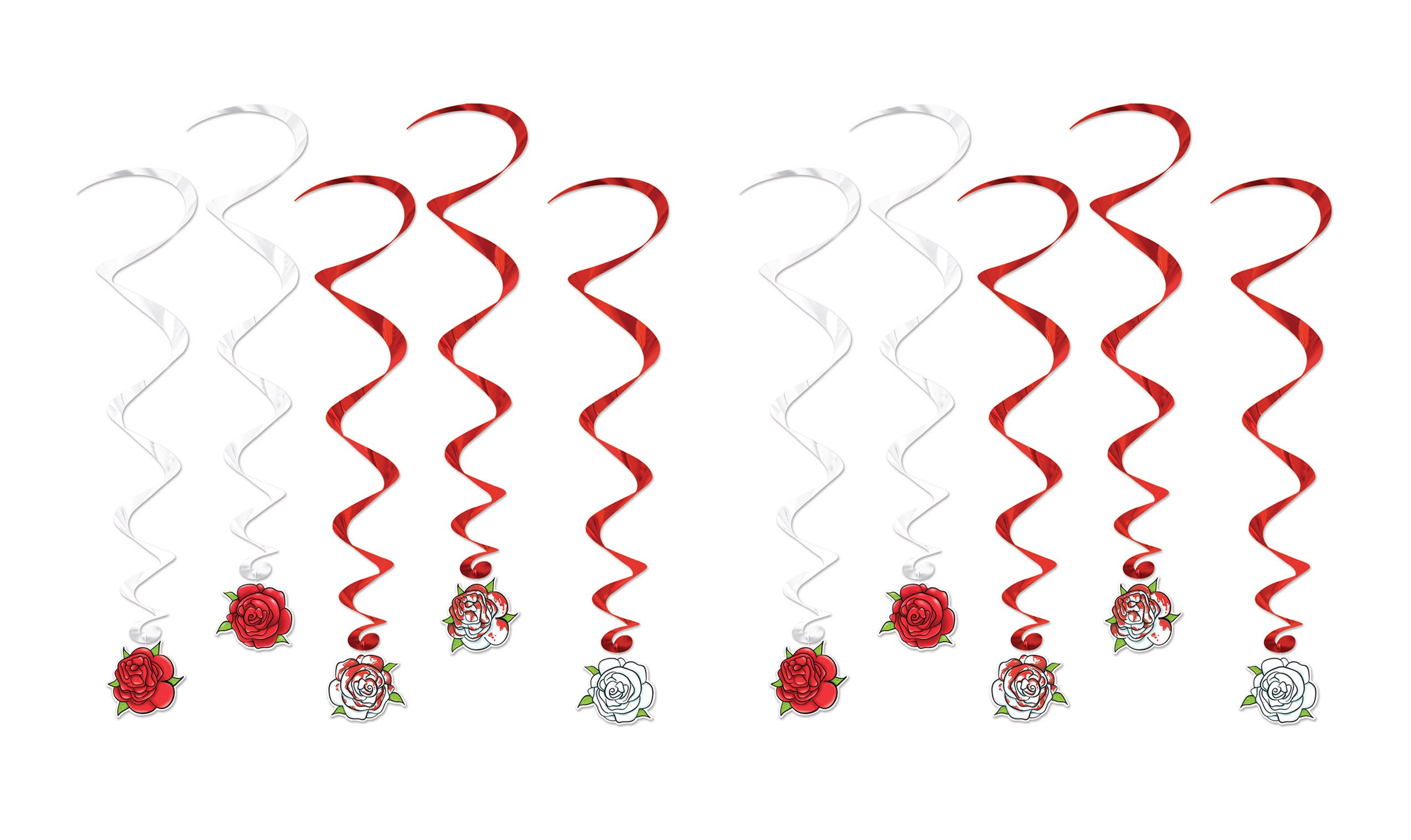 Beistle 52121, 10 Piece Rose Whirls, 3' by Beistle