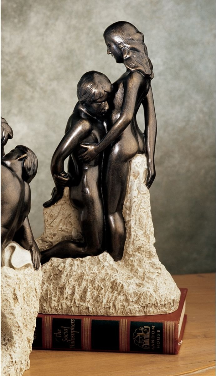 8.5 Museum Replica Bronze Finish Nude Erotic Passionate romantic Lovers Statue Sculpture