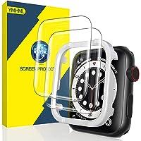 YMHML Protector de pantalla compatible con Apple Watch 40 mm SE Series 6 Series 5 Series 4, vidrio templado [cobertura…