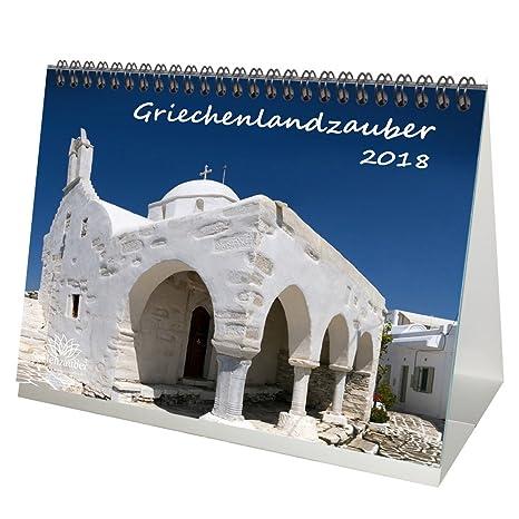 Premium Tischkalender / Kalender 2018 · DIN A5 · Griechenlandzauber · Griechenland · Urlaub · Meer · Edition Seelenzauber