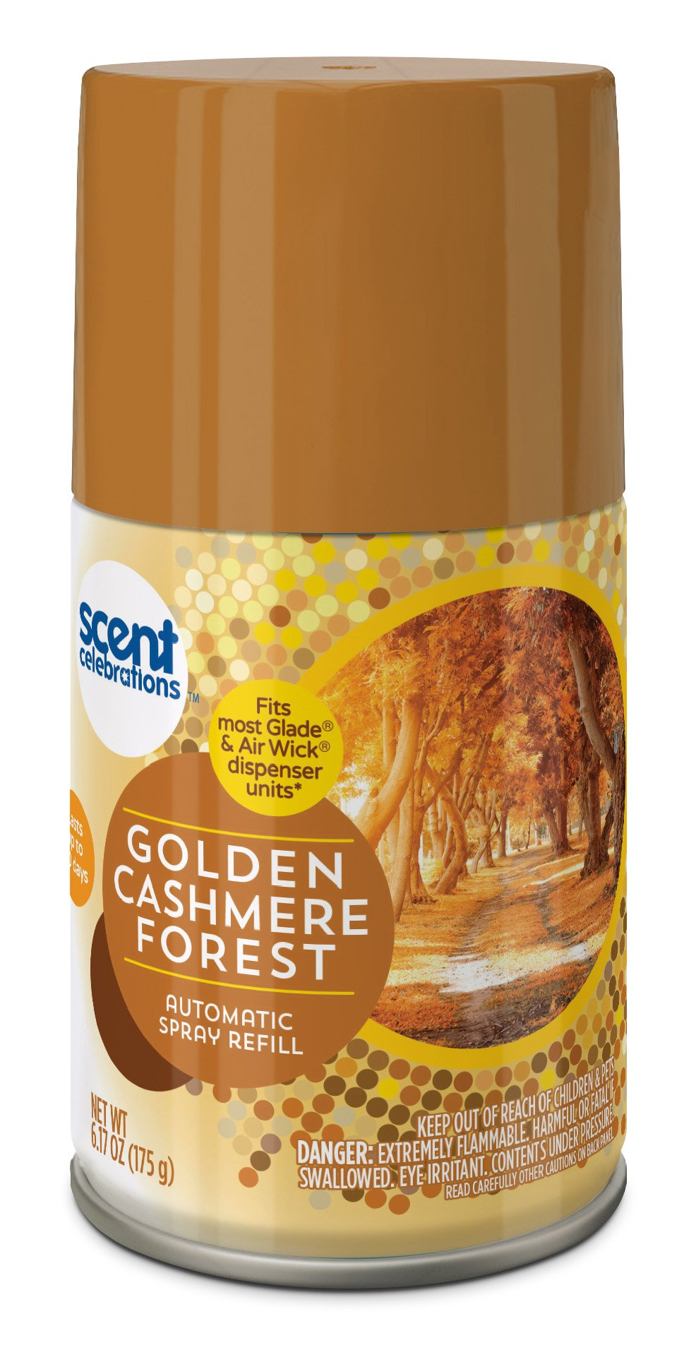 Scent Celebrations Amber Woods Automatic Spray Refill, Golden Cashmere Forest, 6.2 Fluid Ounce (Pack of 6)