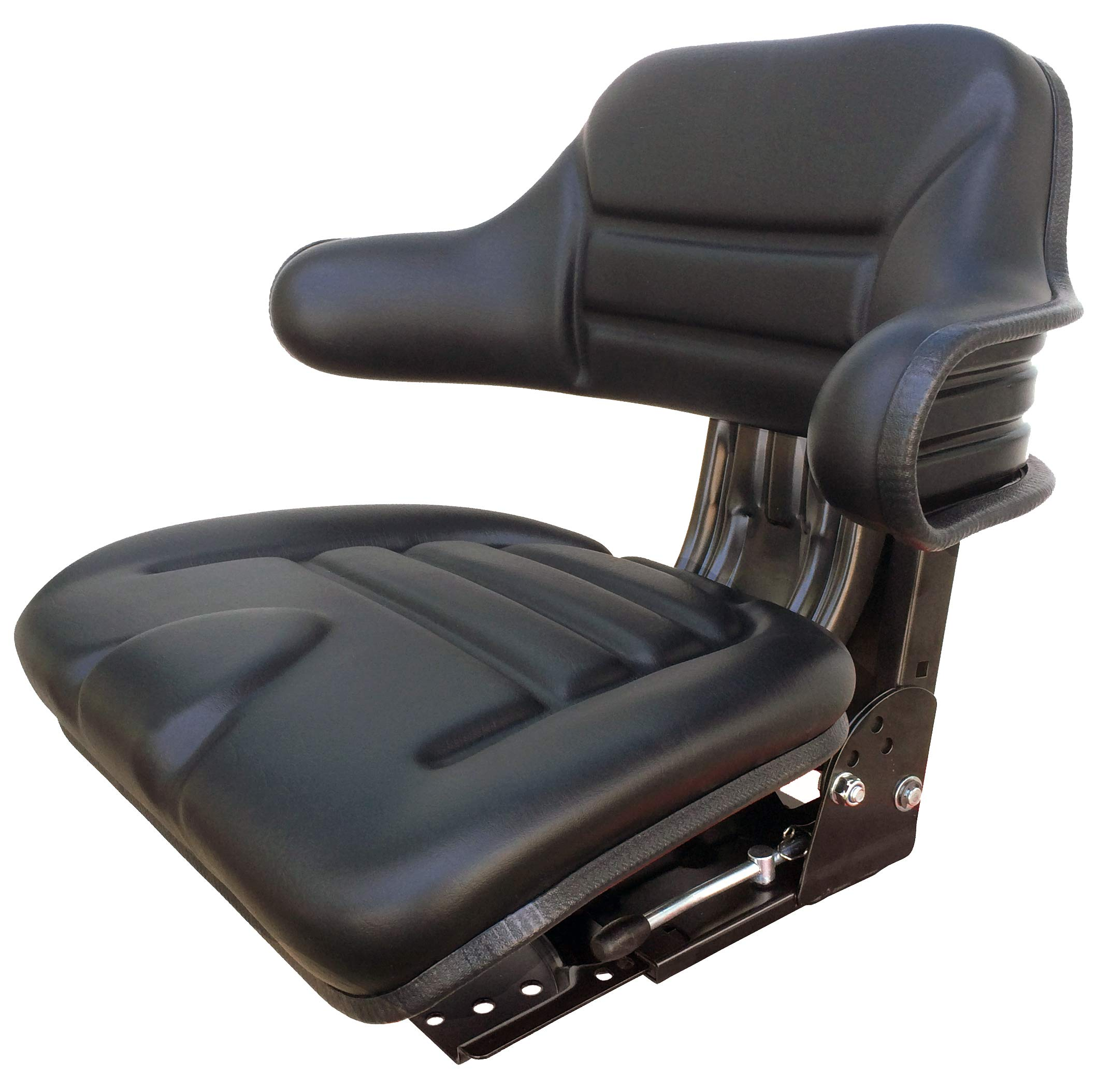 Star ECO 110 Black Suspension Slide Adjustment Multi Angle Base Universal Tractor Seat (Replacement for Several)