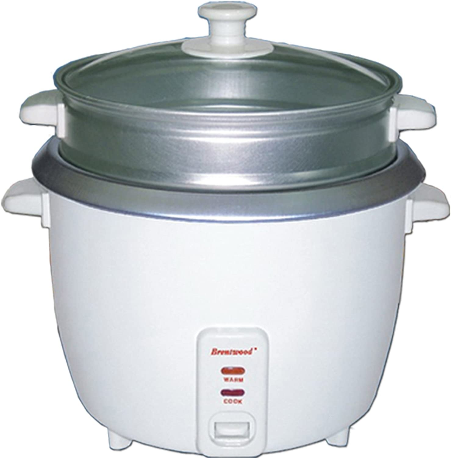 Brentwood TS-700S Rice Cooker, 4 Cups, White