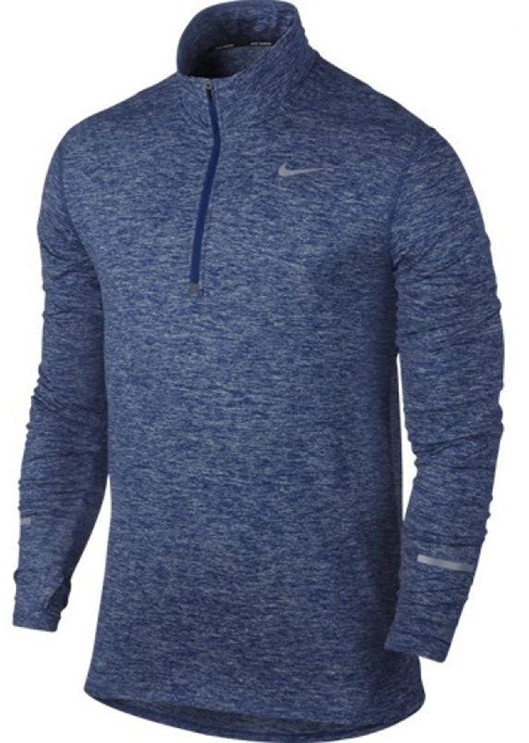 NIKE Men's Dry Element Running Top B014TIHD9E Large|Deep Royal Blue/Heather/Deep Royal Blue