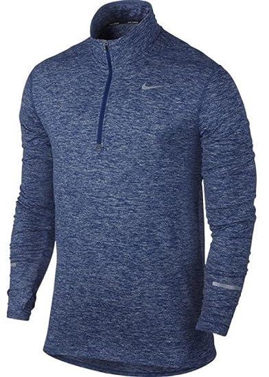 7718f237 Amazon.com: Nike Men's Dri-Fit Element Half Zip - Medium - Deep Royal  Blue/Heather/Deep Royal Blue: Clothing