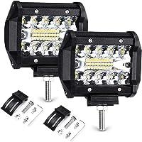 """Focos LED Tractor, Haofy 2 Piezas Faros Trabajo LED, 4"""" 70W Luz de Niebla de Coche, IP68 Impermeable, 7200LM Super…"""