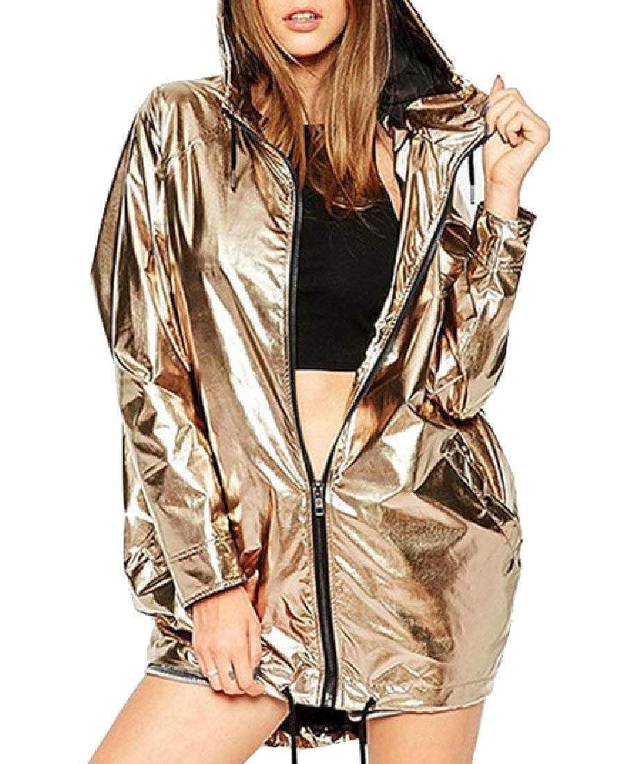 Babaseal Giacca in Jersey da Donna Leggera Metallizzata Shimmer