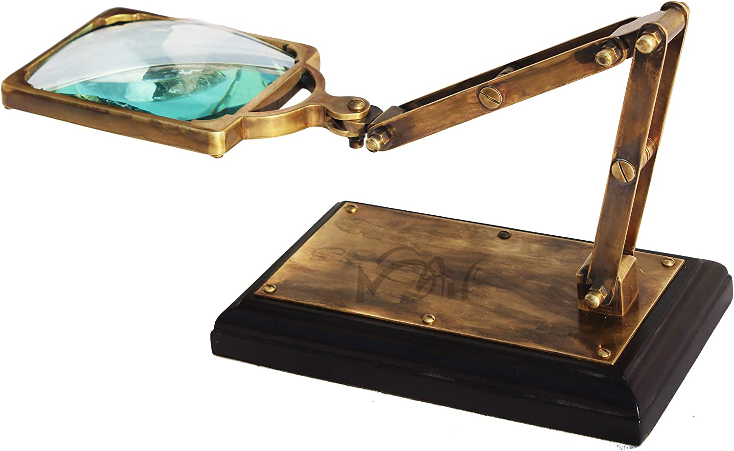Gifts MAH Desktop Vintage Style Magnifier Austin Mall Glass for Bo Reading