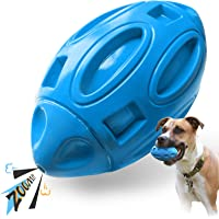 EASTBLUE Squeaky Dog Toys for Aggressive Chewers: Rubber Puppy Chew Ball with Squeaker, Almost Indestructible and…