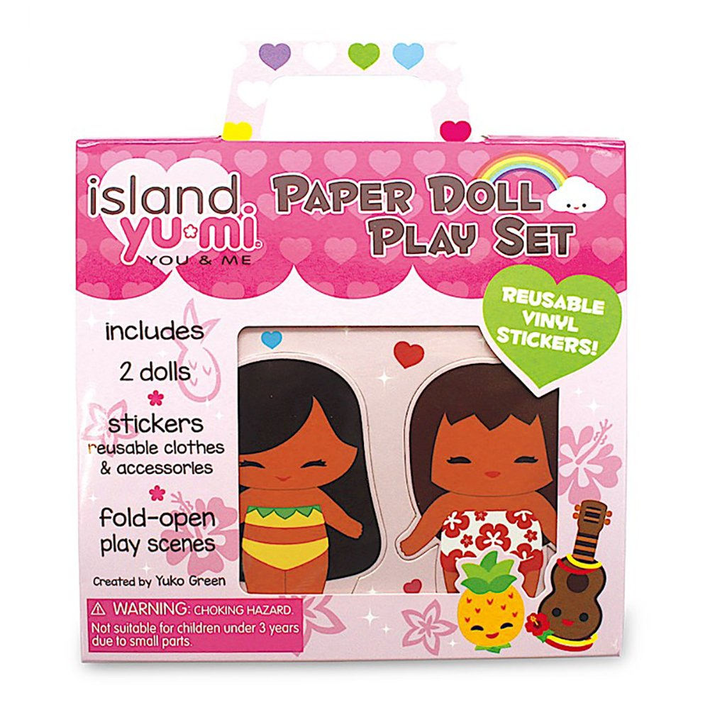 Paper Doll Play Set Hawaii Island Yumi by Welcome to the Islands
