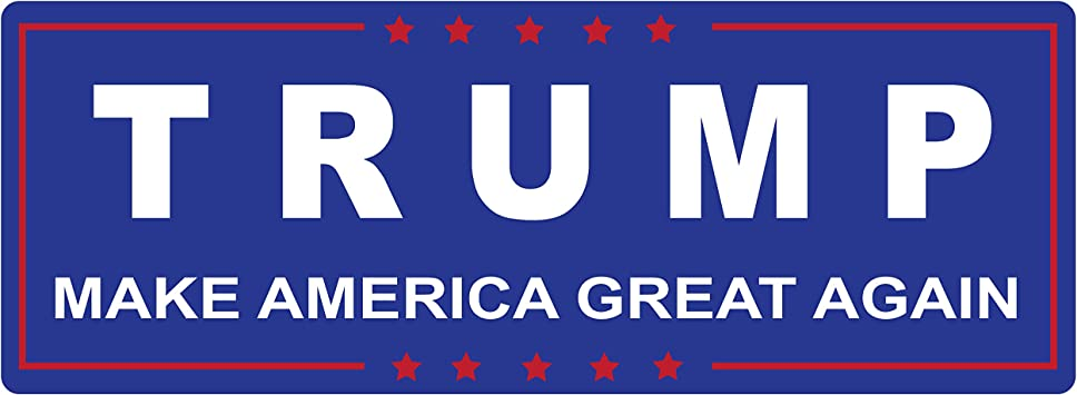 Trump for President 2016 Blue Car Vinyl Sticker SELECT SIZE