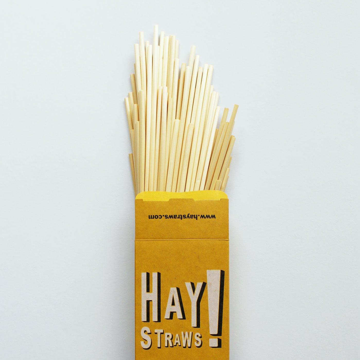 HAY! Natural Drinking Straws, Tall 7.75''