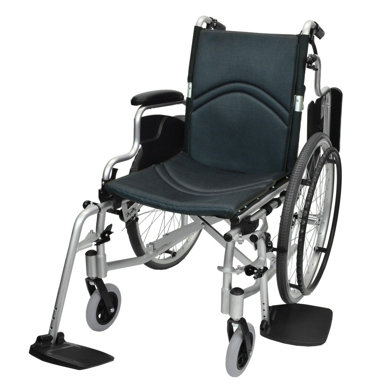 ケアテックジャパン 自走式 アルミ製 折りたたみ 車椅子 コンフォート CAH-50SU (ダークグレー) B071XV57XH  ダークグレー(メッシュ)