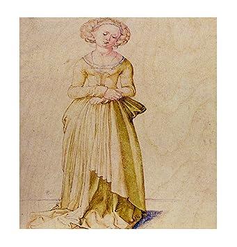 Amazon.com: Nuremberg Virgin In Dance Dress (Durer) Wood Print Wall ...