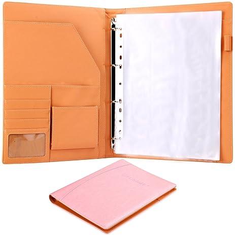 plinrise high grade multifunction letter size padfolio resume portfolio folder document organizer business