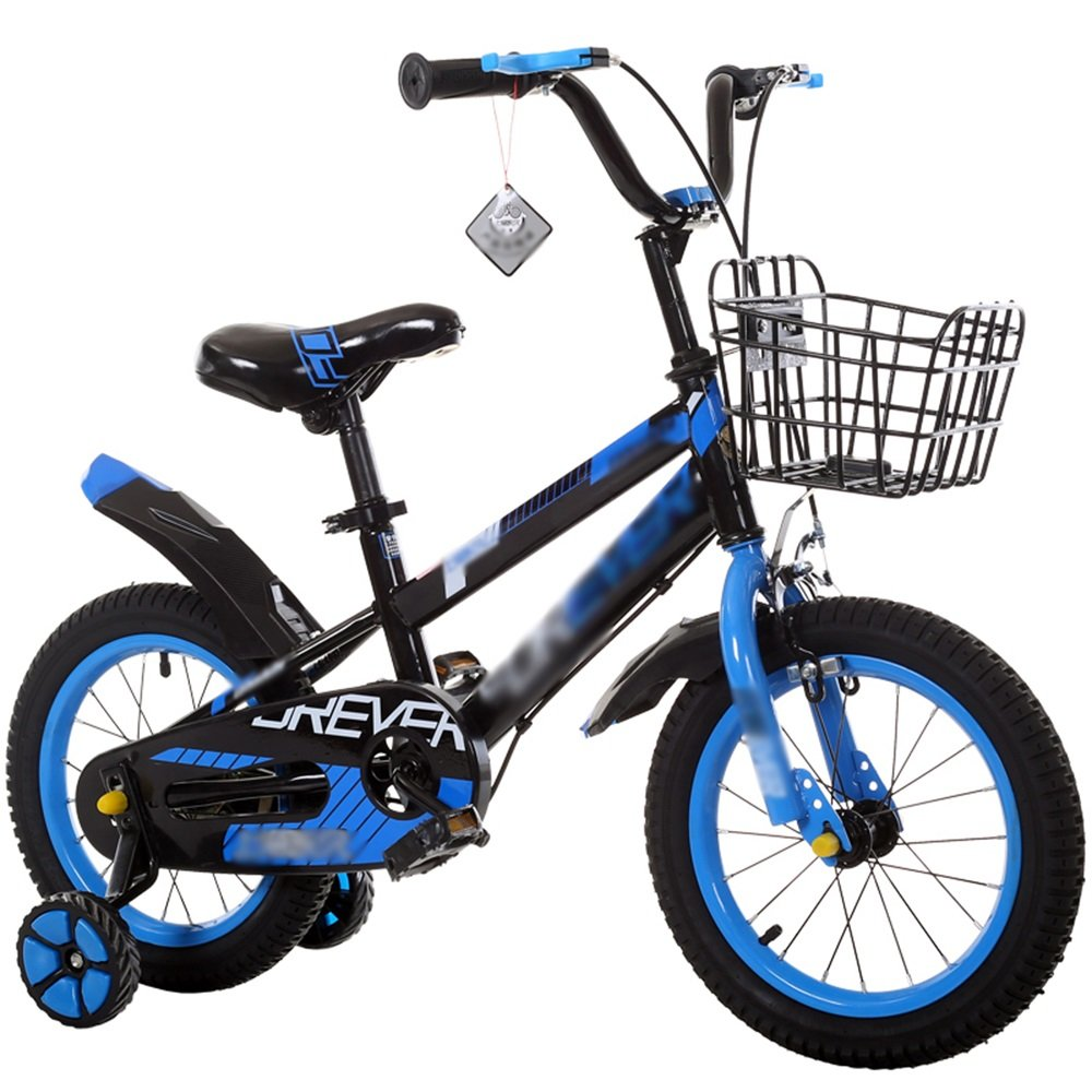 HAIZHEN マウンテンバイク 子供用自転車ベビーキャリッジ12/14/16/18インチマウンテンバイク高炭素鋼材青緑色レッドセキュリティファッション 新生児 B07CG2KS23 青 14 inch
