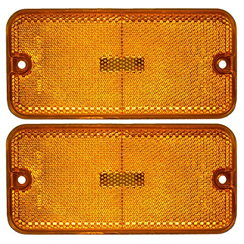 Pair of Front Signal Side Marker Light Lamp Replacement for Chevrolet GMC Van 915489 GM2550113 AutoAndArt ()