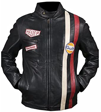 Leather Jacket for Men Tag Heuer Grandprix Originals Gulf