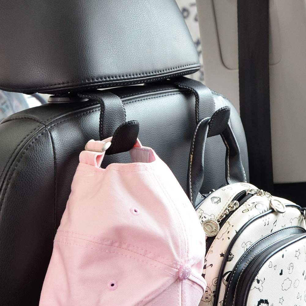 1x Silver Auto Car Seat Truck Coat Hook Purse Shop Bag Hanger Organizer Holder