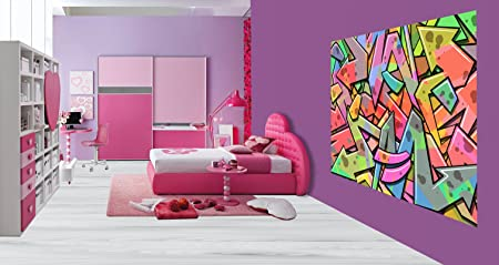Cool Abstract Graffiti Art Kids Bedroom Wallpaper Wall Mural