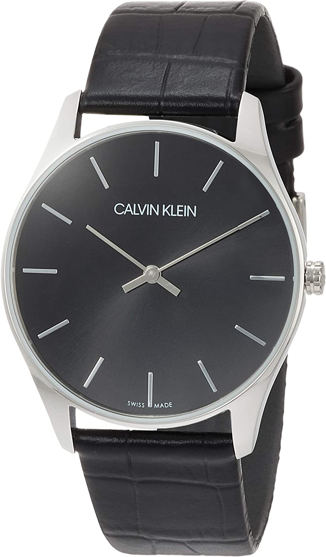 Calvin Klein Reloj Analógico de Cuarzo para Hombre con Correa de Cuero – K4D211C1