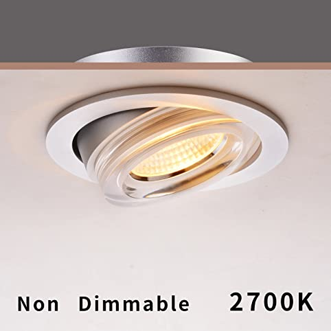 obsess 8w 4 inch led recessed lighting fixture adjustable eyeball recessed ceiling light downlight with