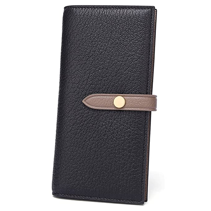 26737af30aae Women s Large Capacity RFID Leather Trifold Wallet Card Holder Buckle  Clutch Purse