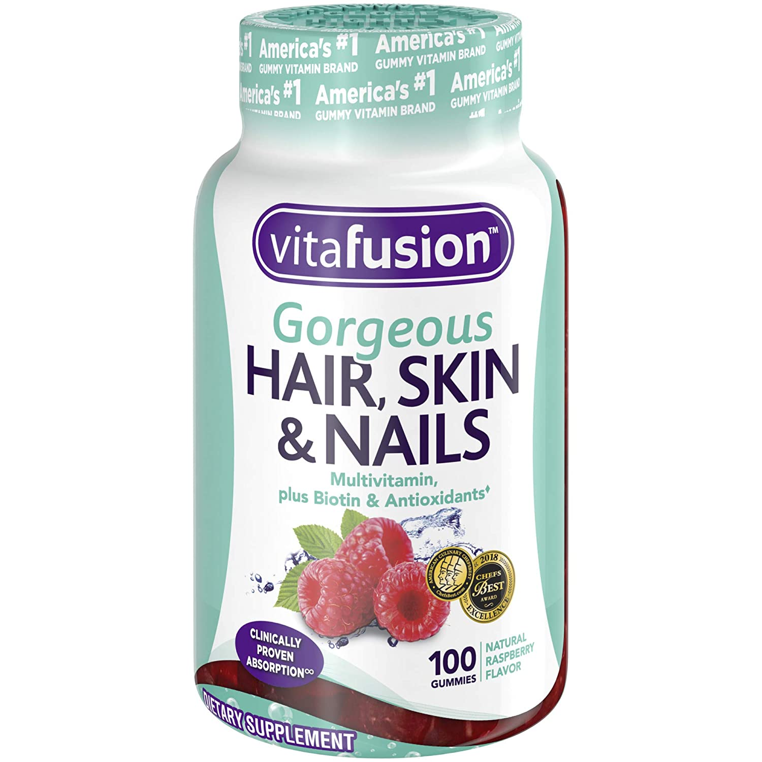 Vitafusion Gorgeous Hair Skin Nails Multivitamin 100 Count Packaging May Vary