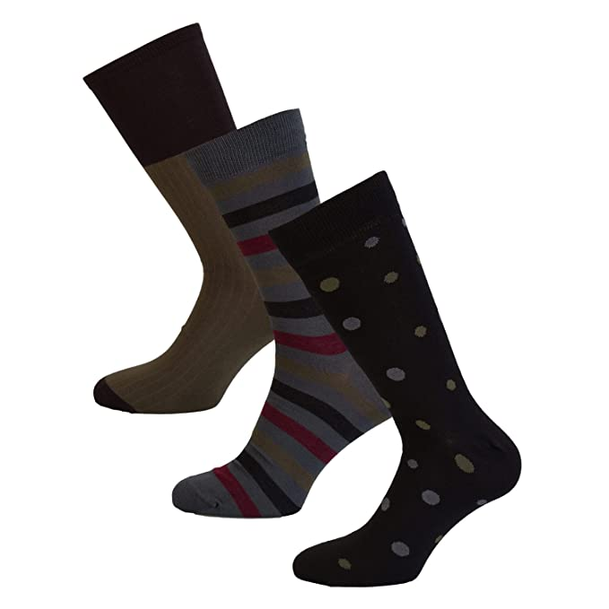 Wolsey Para hombre 3 Packs Negro Calcetines