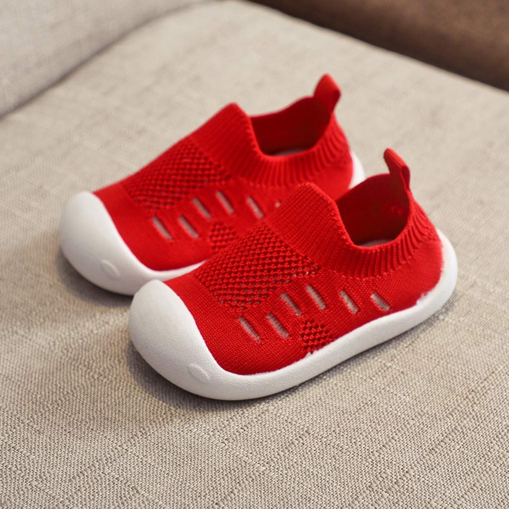 Baby First-Walking Shoes Trainers Knit Sneaker Toddlers Breathable Lightweight Shoes for Baby Boys Girls Running Shoes by LILCIAT
