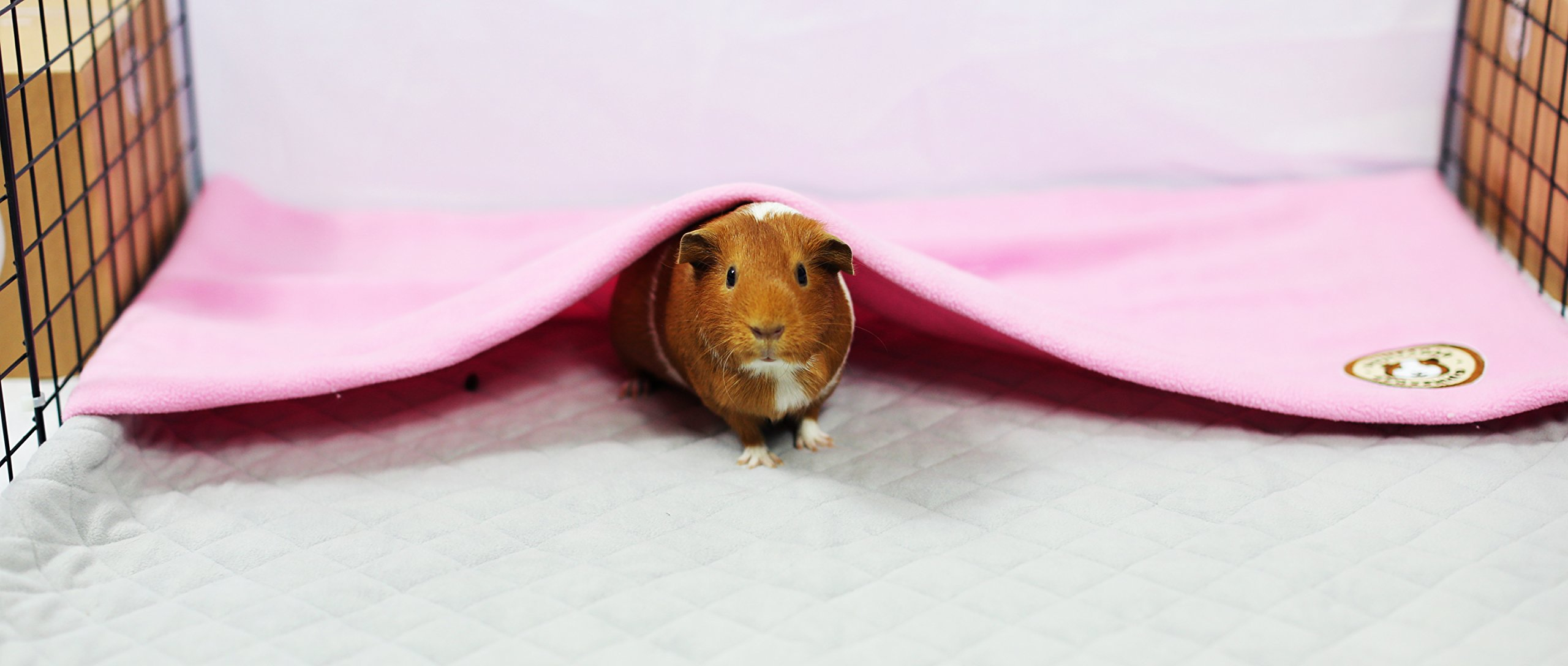 GuineaDad Fleece Liner 2.0 | Guinea Pig Fleece Cage Liners Bedding | Burrowing Pocket Sleeve | Extra Absorbent Antibacterial Bamboo | Waterproof | Available Various Cage Sizes by GuineaDad (Image #1)