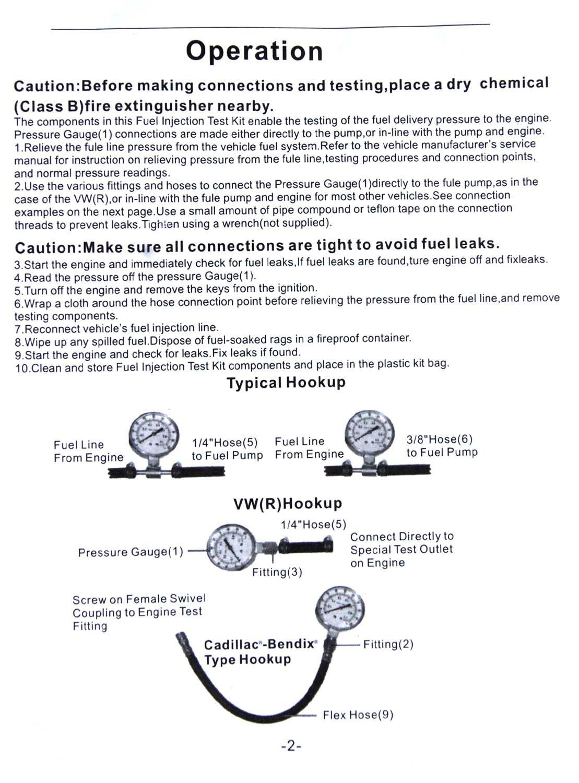449855 Combustible Inyección Bomba Calibre Presión Probador Gasolina Comprobación Herramientas Sintonizador Coche: Amazon.es: Electrónica