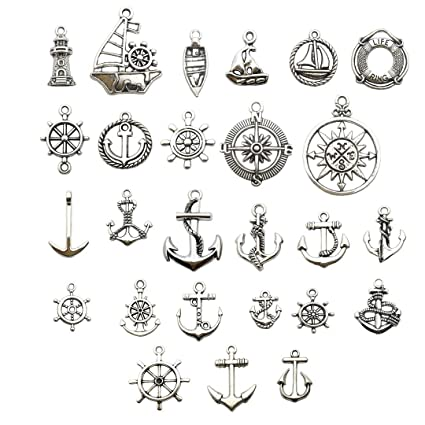 Amazon Com Nautical Charm Collection 50 Pcs Craft Supplies