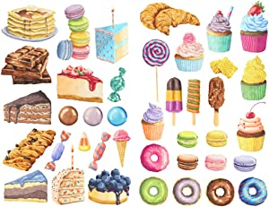 Seasonstorm Sweet Snack Food DIY Aesthetic Diary Travel Journal Paper Stickers Scrapbooking Stationery School Office Art Supplies