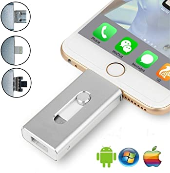 Memoria Flash USB de 128 GB para iPhone 4 en 1, Memoria iOS, OTG ...
