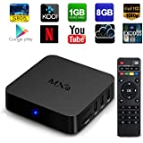 [2rd Generation] GooBang Doo MXQ Fully Loaded KODI Quad Core Android 4.4 Smart Set Top TV Box 1080p Media Player Box with Cleaning Cloth and Customer Support Card