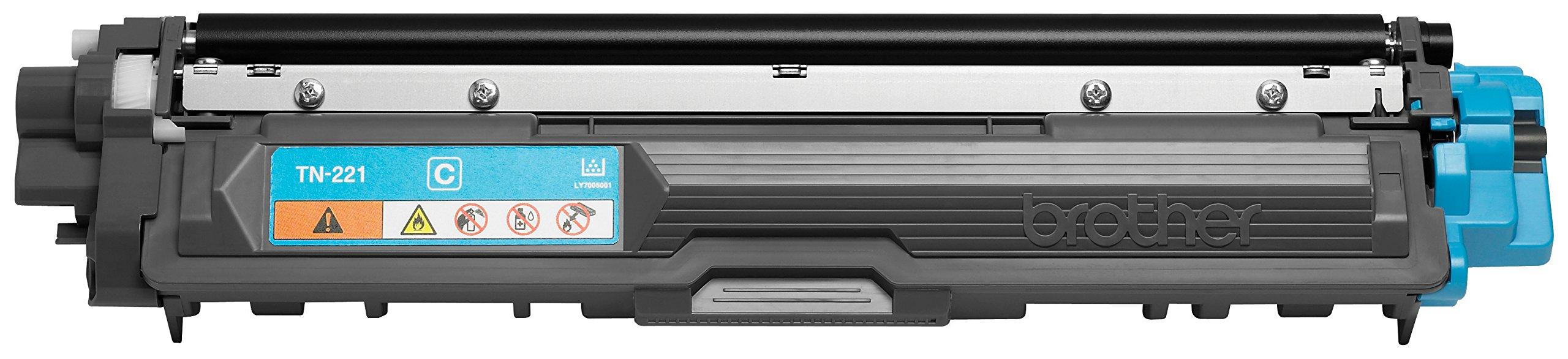 Brother Genuine TN221C Color Laser Cyan Toner Cartridge