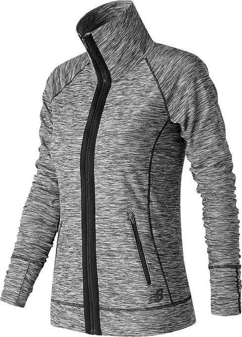 New Balance Women's In Transit Jacket, Black/White, X-Small