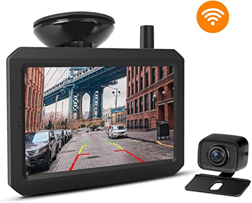 Wireless Backup Camera Kit with Digital Signal, Waterproof Rear-View Camera with 5 TFT-LCD Monitor, Ideal for Sedans, Pickup Truck, SUV, Minivans BOSCAM K7