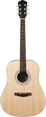 AmazonBasics Beginner Acoustic Guitar with Strings, Picks, Tuner, Strap, and Case - 41-Inch, Spruce and Okoume