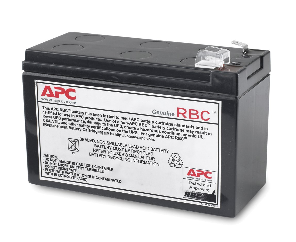 APC UPS Replacement Battery Cartridge for APC UPS Model BE550G and select others (RBC110)
