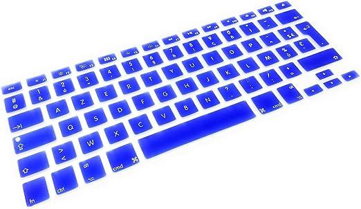 System-S Protector de Teclado AZERTY de Silicona para Teclado francés para MacBook Pro de 13, 15, 17 Pulgadas, iMac, MacBook Air de 13 Pulgadas, Color ...