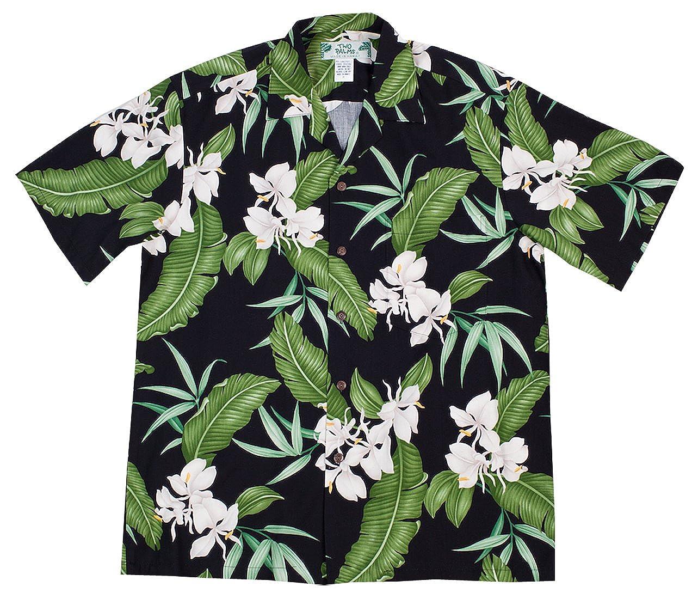 Two Palms Mens Ginger Shadow Rayon Shirt