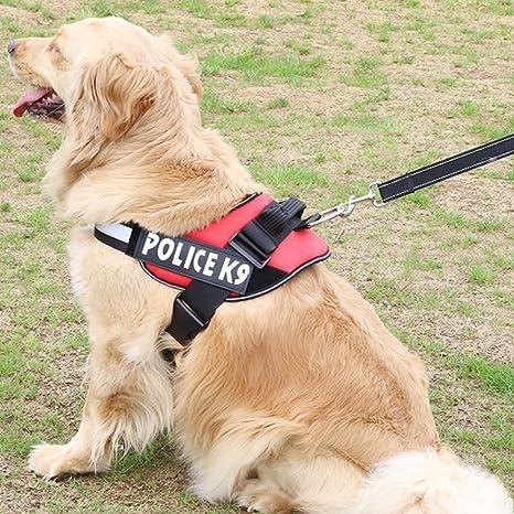 CDKJ Arnés para Perro con Acolchado en el Pecho Police K9, tamaño ...