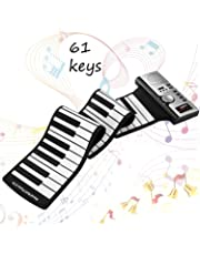 Roll Up Piano Portable 61 Keys Electronic Music Instrument Hand Roll Piano Environmental Silicone Keyboard Horn Kid Adult Toy